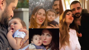 Hamza Ali Abbasi and Naimal Khawar New Pictures with their lovely Son