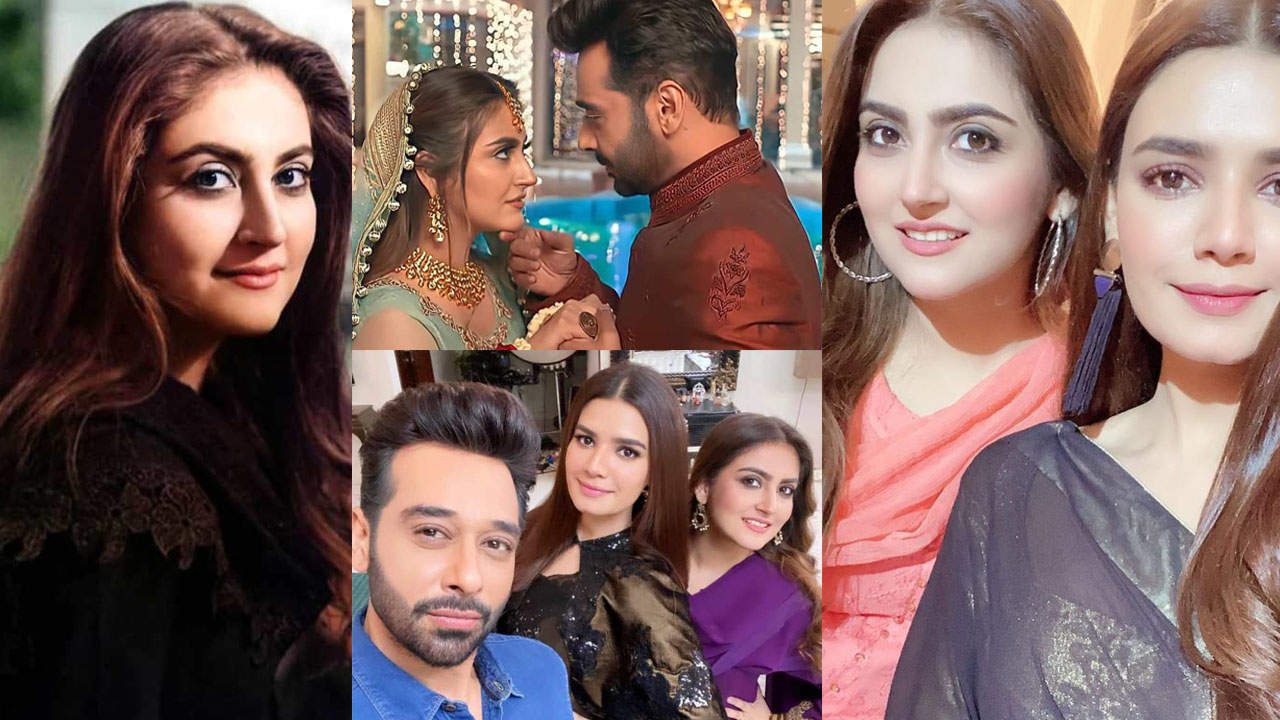 Hiba Bukhari Behind the Scenes with Fatoor Drama Cast Pictures