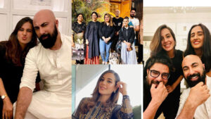 Iqra Aziz at HSY house Party with Husband Family Pictures