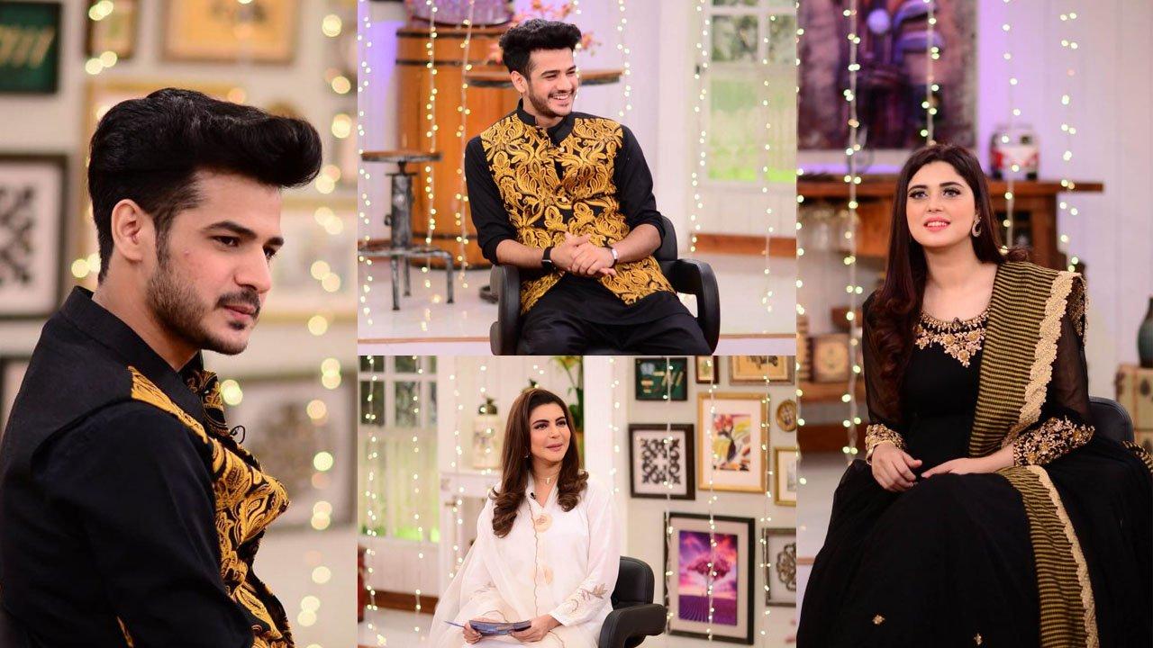 Kanwal Aftab and Zulqarnain at  Nida Yasir Show with Same Dressing