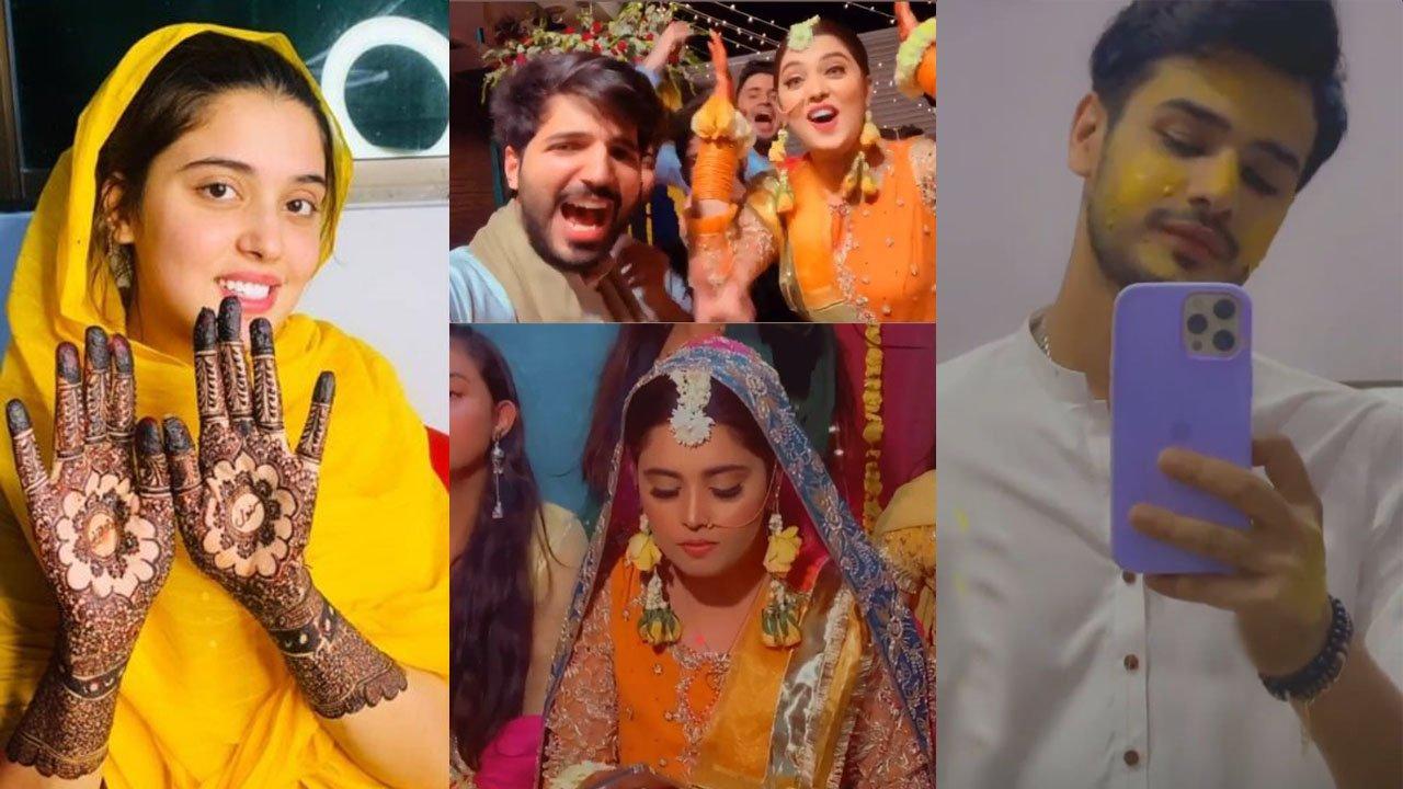 Kanwal Aftab and Zulqarnain Finally Got Married Mehndi Pictures