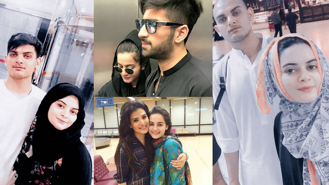Aiman Khan and Minal Khan Some Rare Pictures Together