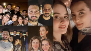 Momal Sheikh at Party with Showbiz Friends Memorable Clicks