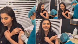 Nida Yasir Injected the Vaccine of Covid in front of Camera