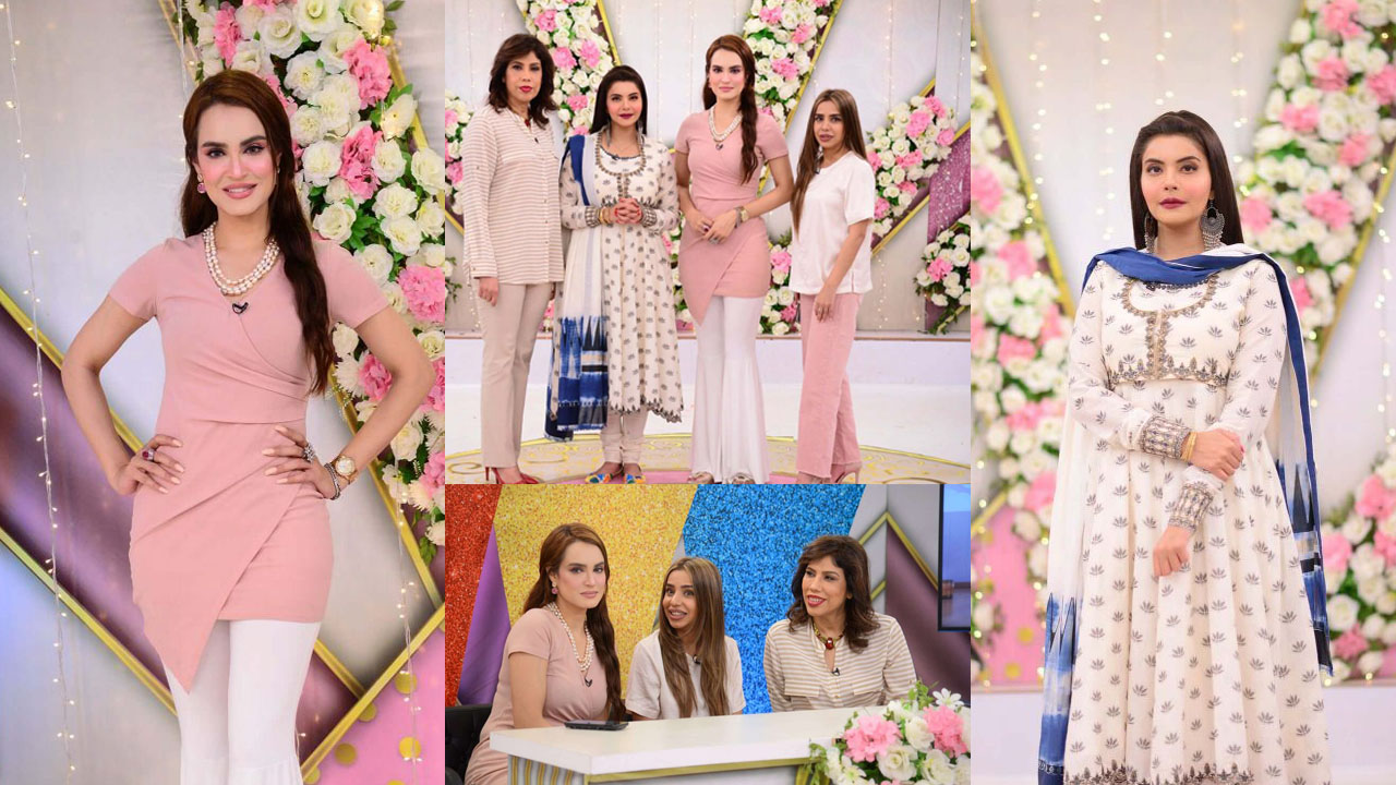 Nadia Hussain Tallest Actress of Pakistan at Ndia Yasir Show Pictures
