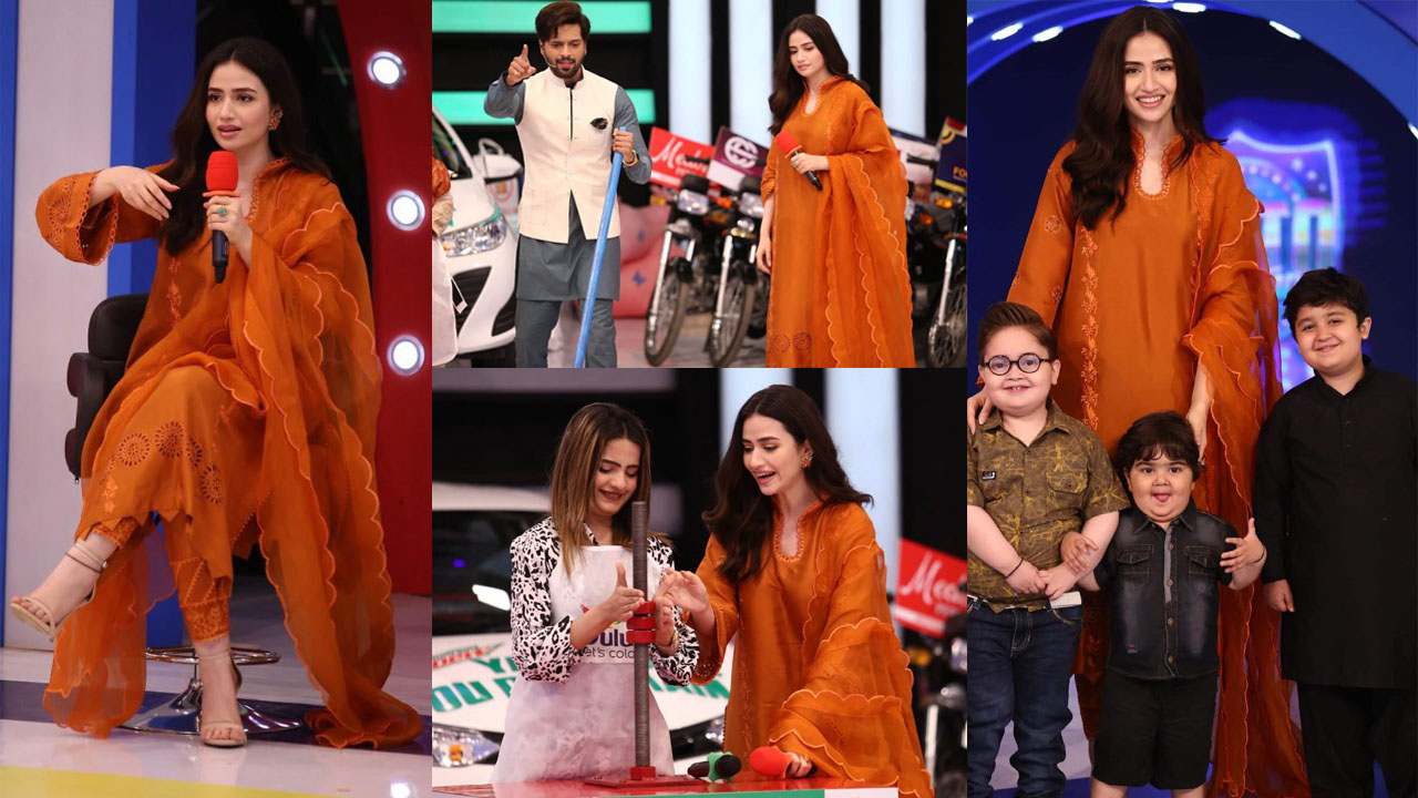 Sana Javed at Jeeto Pakistan with Child Star Ahmed Shah Adorable Pictures