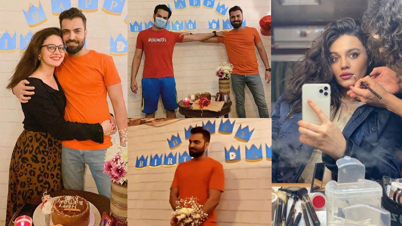 Zara Noor Abbas Celebrating her lovely Husband Asad Siddiqui Birthday