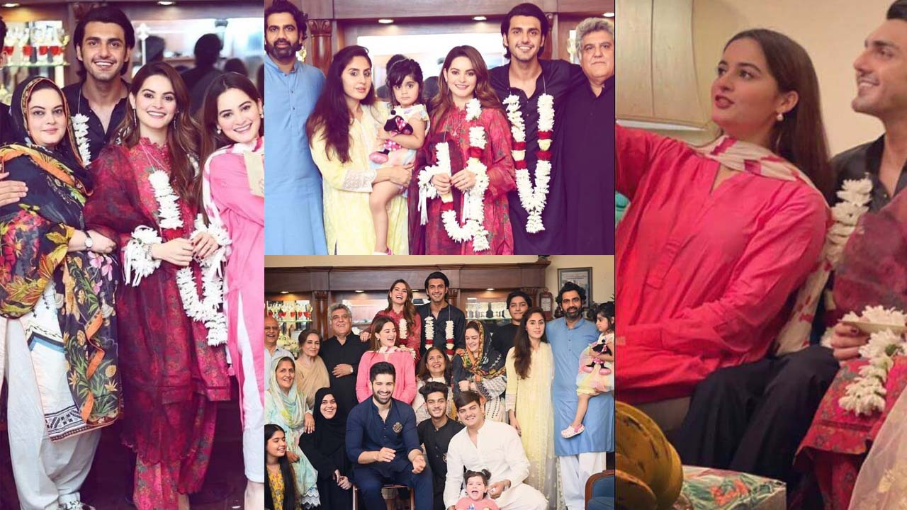 Aiman Khan and Minal Khan Amazing Pictures with her Mother and Family