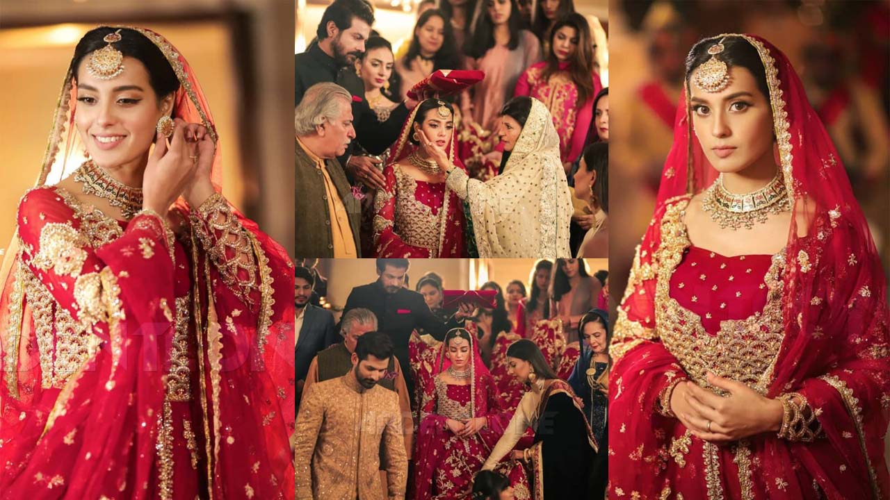 Iqra Aziz New Bridal Look in Awesome Pause Pictures