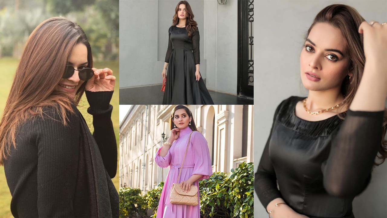 Minal Khan with her Sister in Black Dress Adorable Pictures