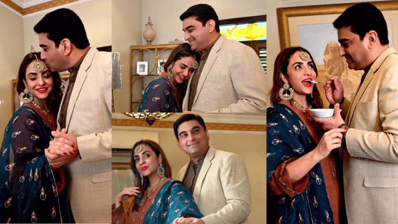 Nadia Khan 1st time at her Susral with her Husband Lovely Pictures