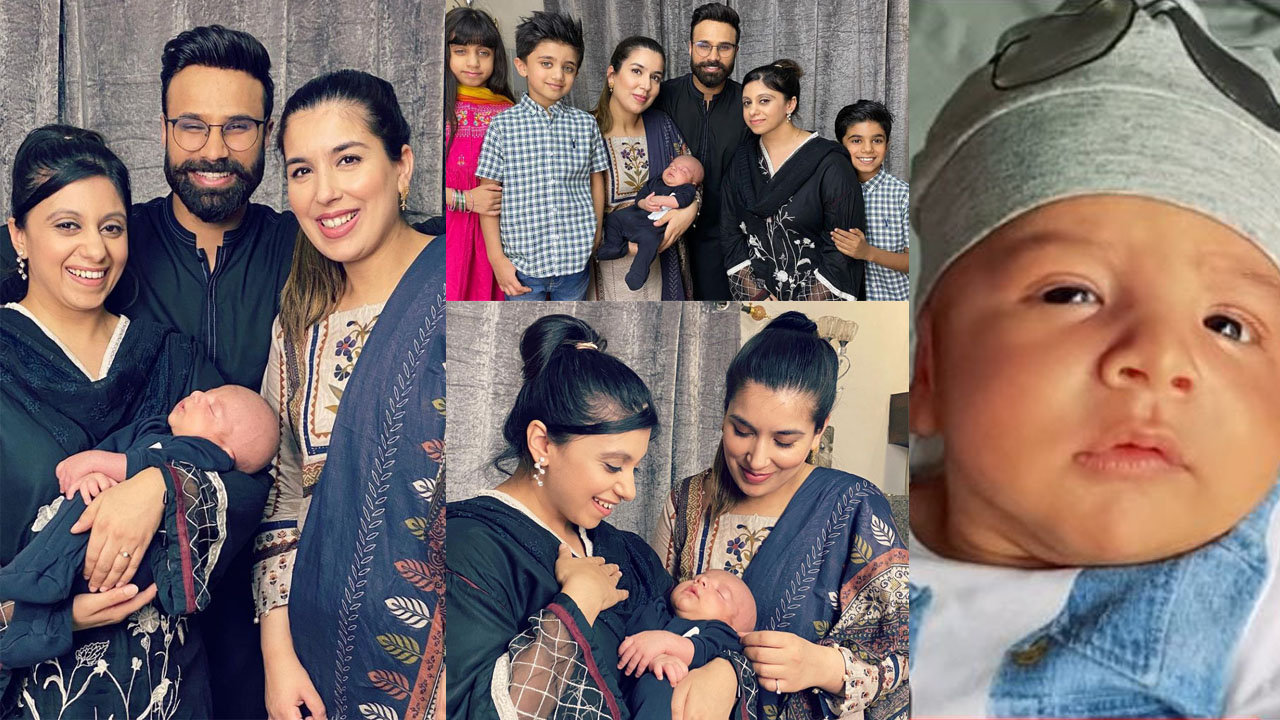 Rahim Pardesi New baby pictures with Wives and Family