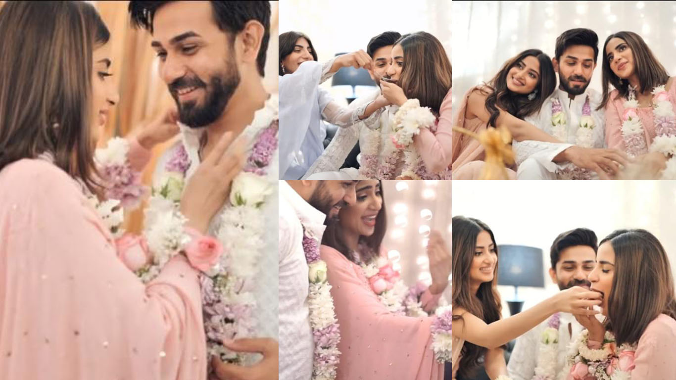 Saboor Ali and Ali Ansari Engagement Movie Release Now