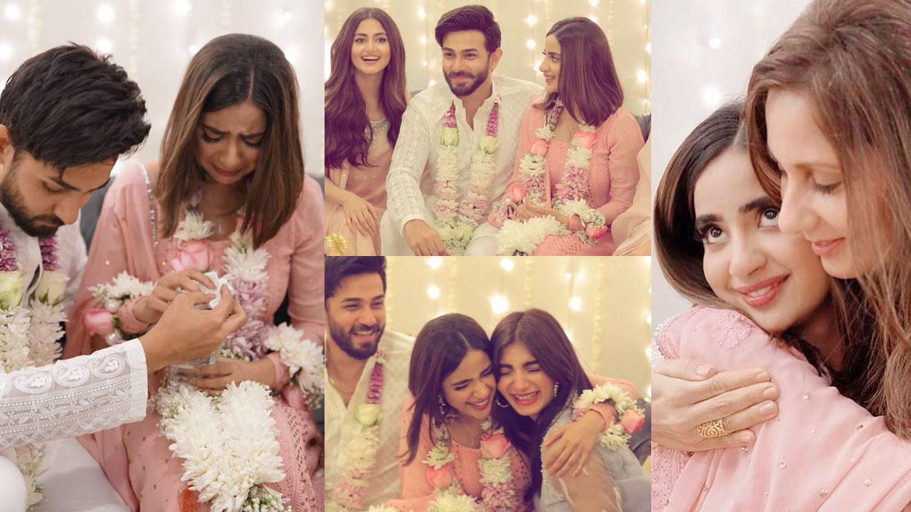 Saboor Ali crying at her Engagement with Ali Ansari Pictures