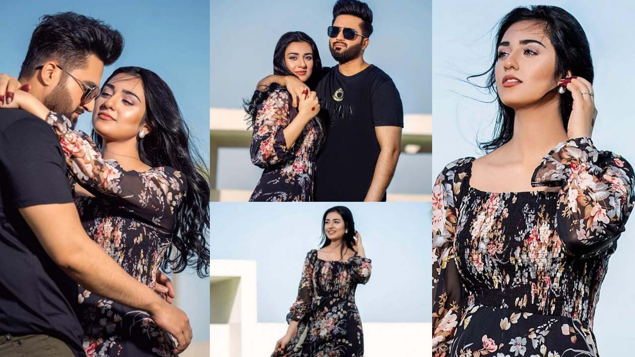 Sarah Khan and Falak Shabbir New Holiday Pictures in Romantic Mood