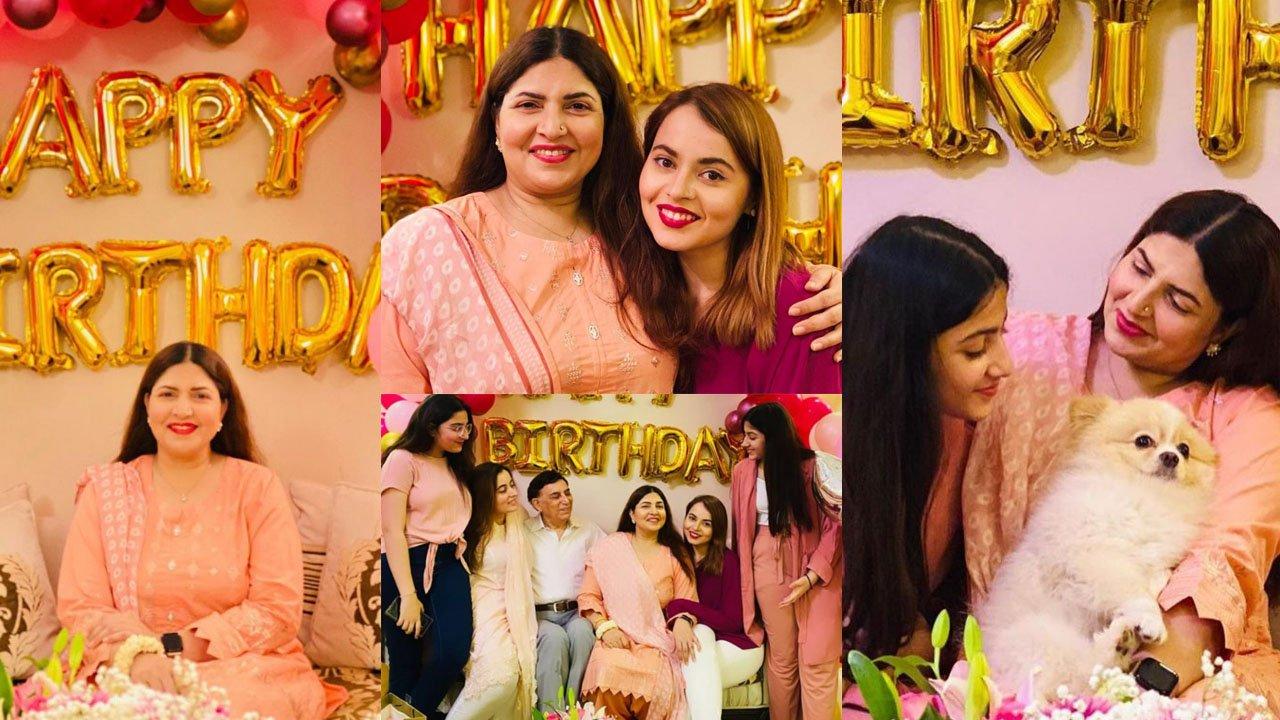 Shagufta Ejaz Pakistani Start Celebrate her 50th Birthday with her Daughters