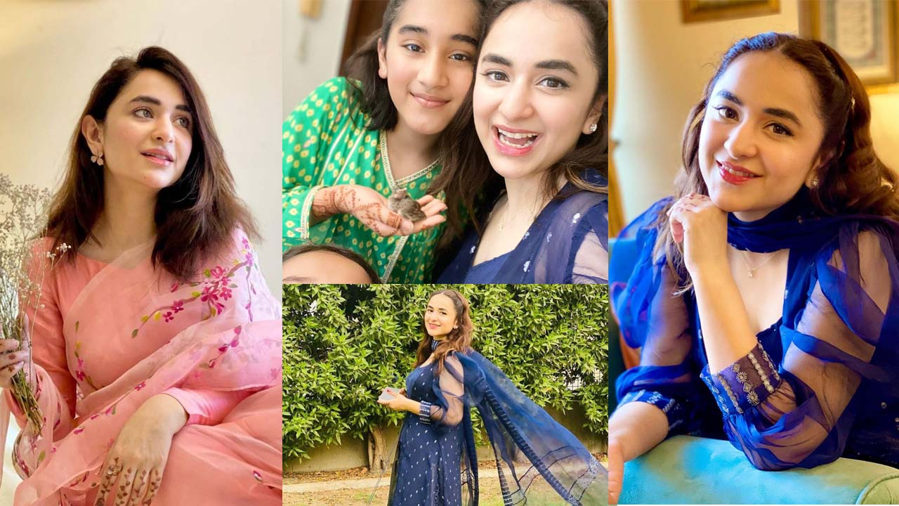 Yumna Zaidi Family Pictures looking Stunning in New Look