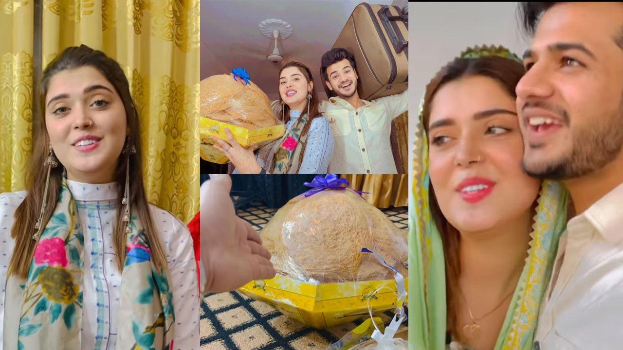 Zulqarnain Surprise Gift of Eidi to her Cutest Wife Kanwal Aftab Clicks