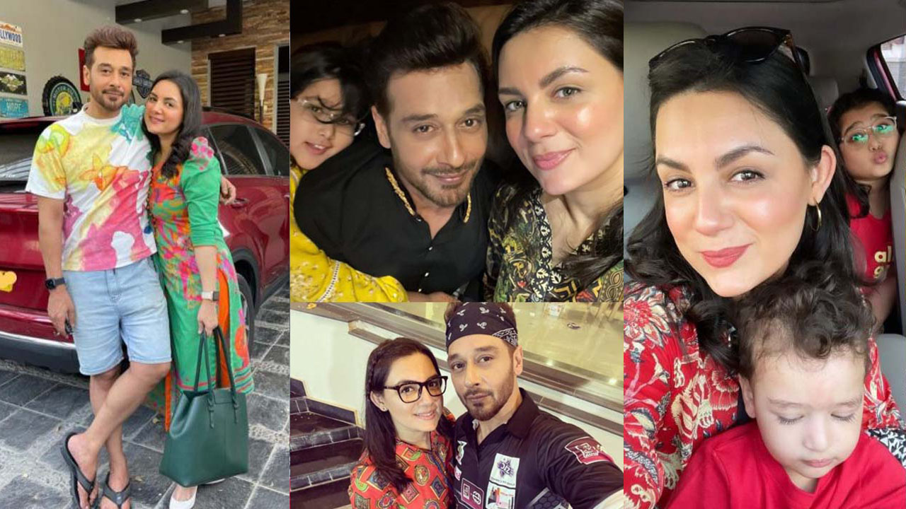 Faysal Qureshi and Sana Qureshi New Adorable Pictures with Family