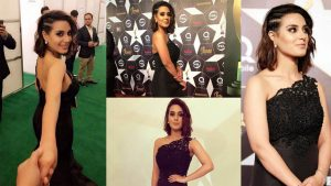 Read more about the article Iqra Aziz Looking Different in Black look wearing something New Clicks