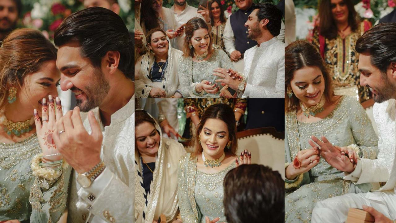 Minal Khan actress Official Engagement Pictures with family