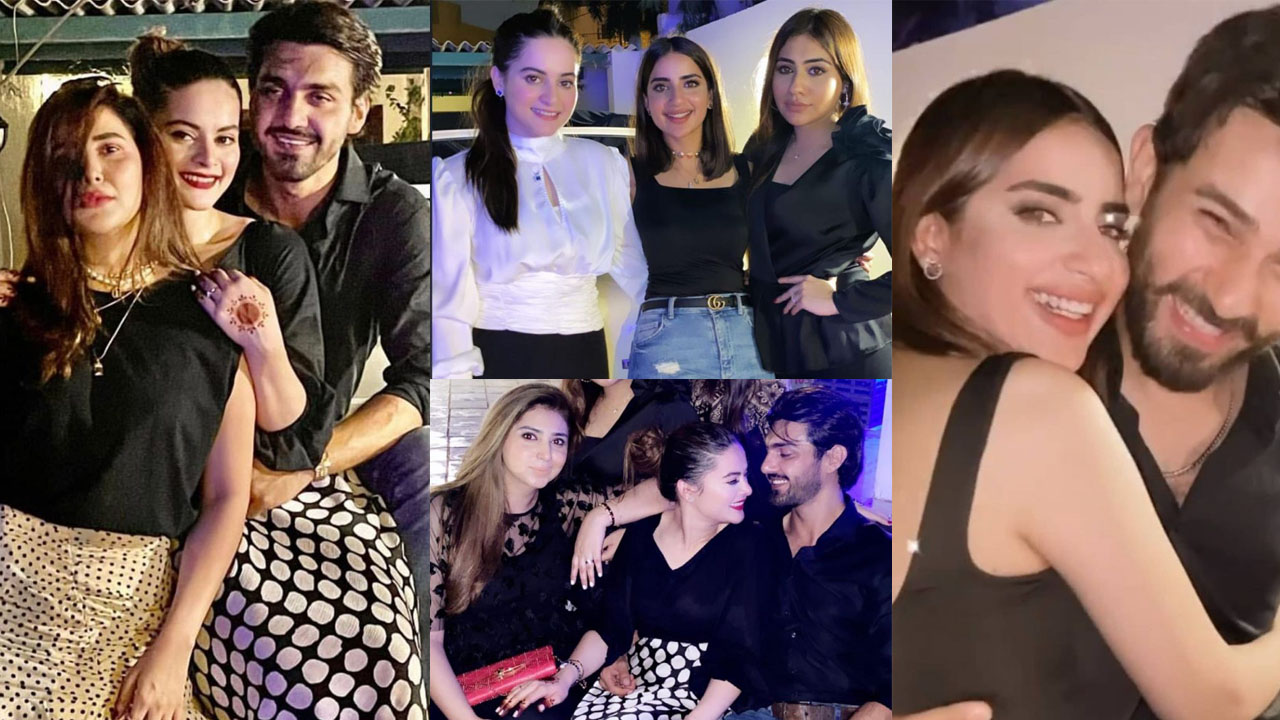 Minal Khan and Saboor Ali on Party with their Future Husband Clicks