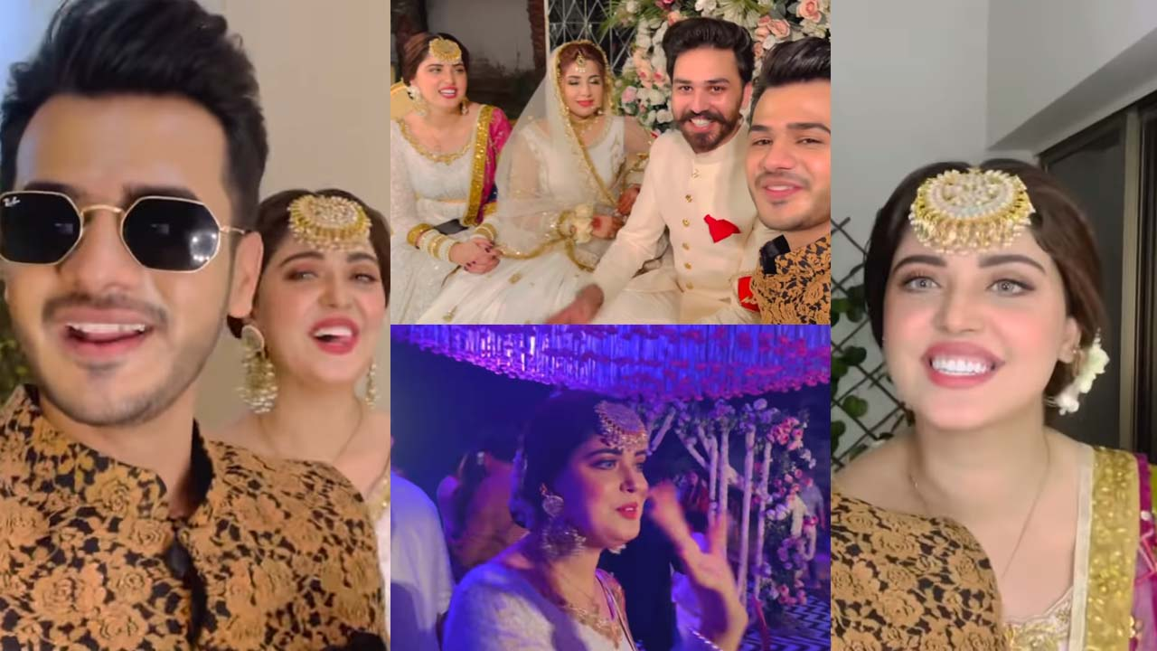 You are currently viewing Zulqarnain and Kanwal Aftab at her Friend Wedding Vlog and Picutres