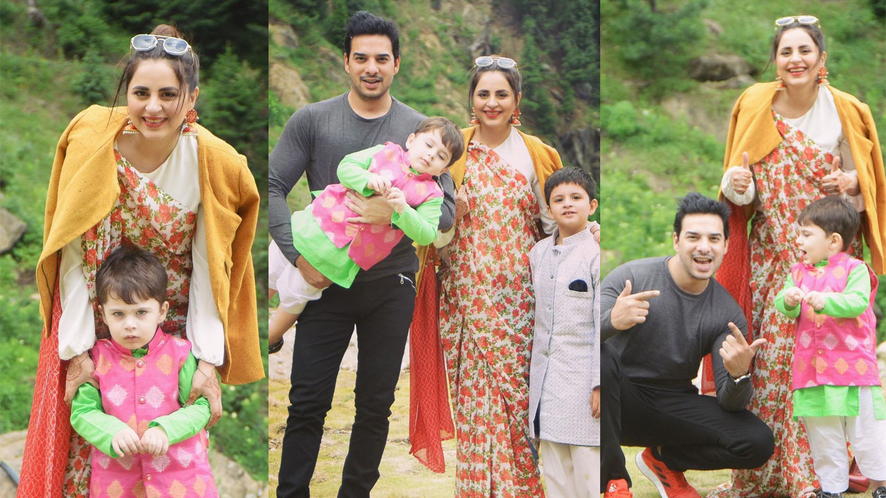 Read more about the article Fatima Effendi Enjoy in Mountains with husband and Kids Pictures