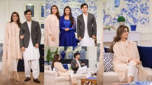 Read more about the article Sadaf Kanwal with her Husband Shehroz at Nida Show