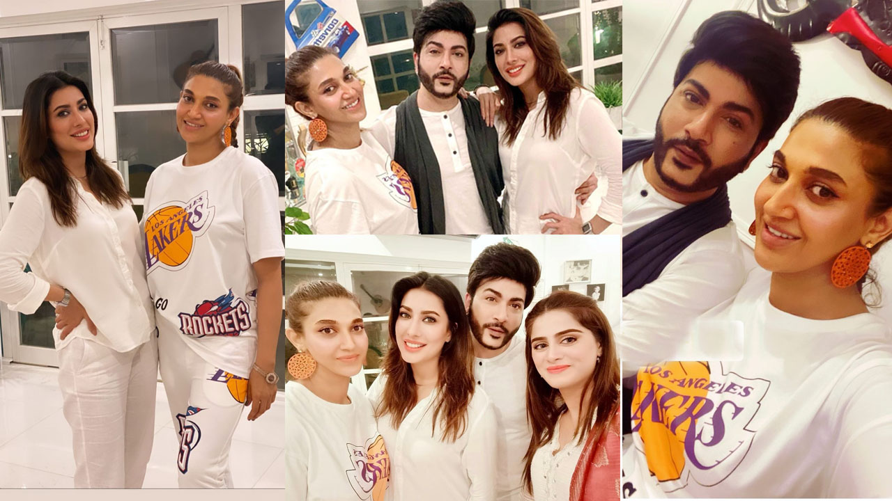 Read more about the article Sana Fakhar and Mehwish Hayat Lovely Gathering Pictures